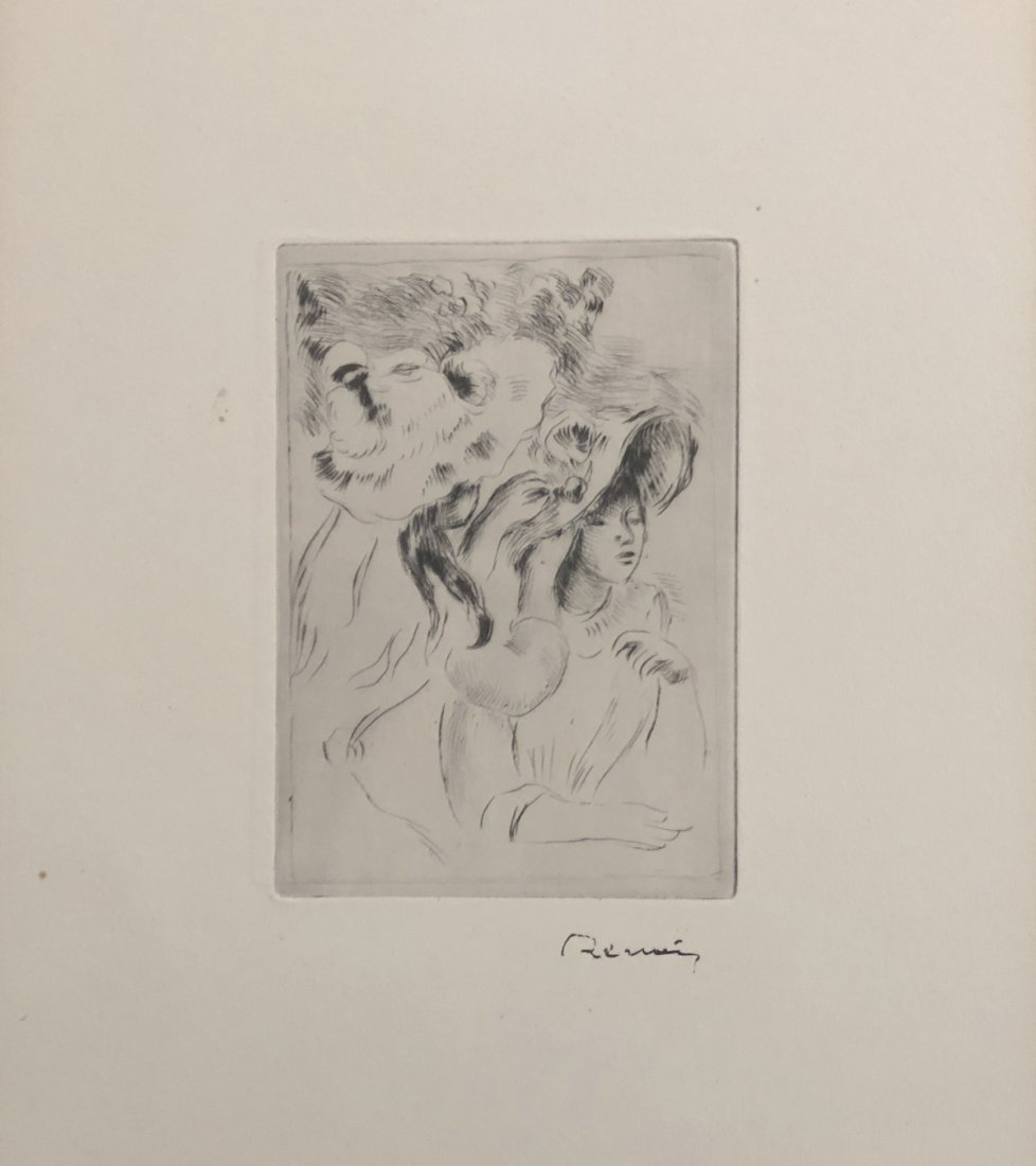 Renoir P.A. Le Chapeau Epingle. Etching by Renoir 1894
