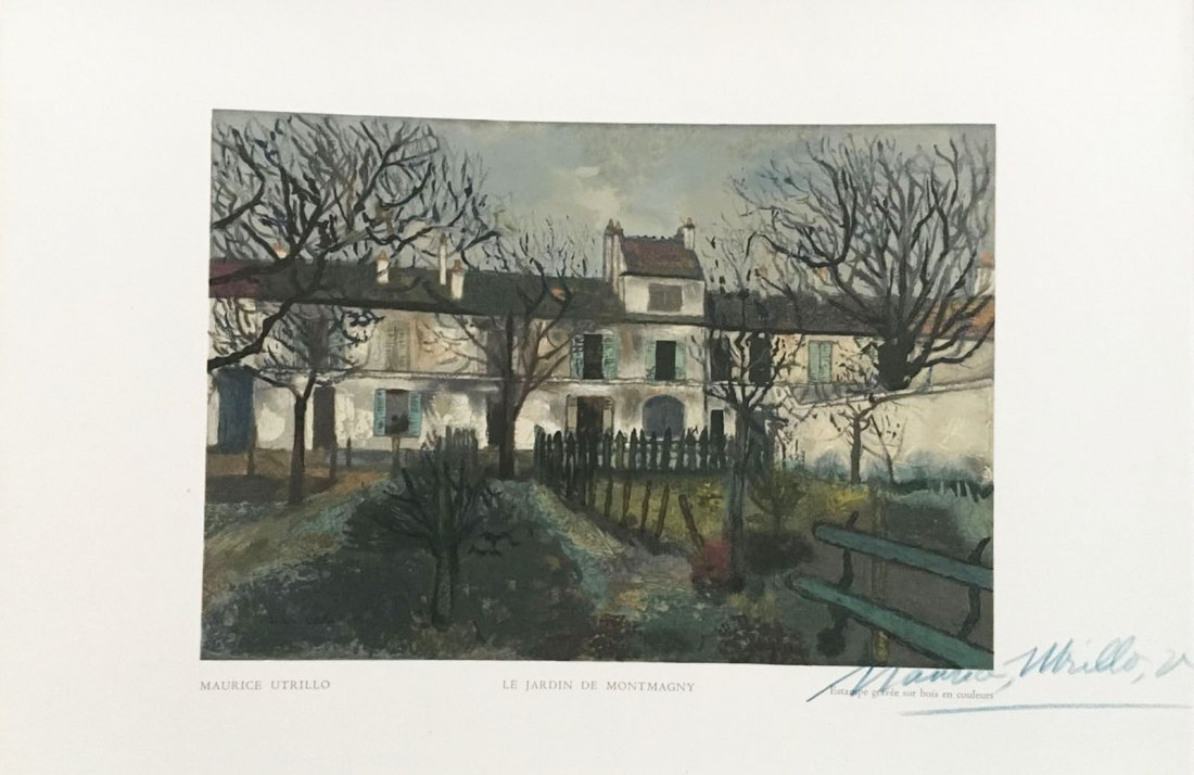 Utrillo Maurice. Le Jardin de Montmagny. 1950 wood