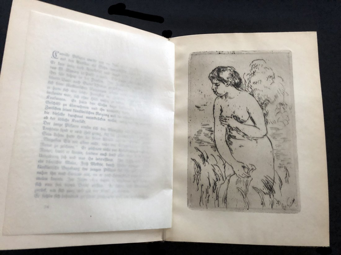 Die Impressionisten, 1920, book with 2 etchings by