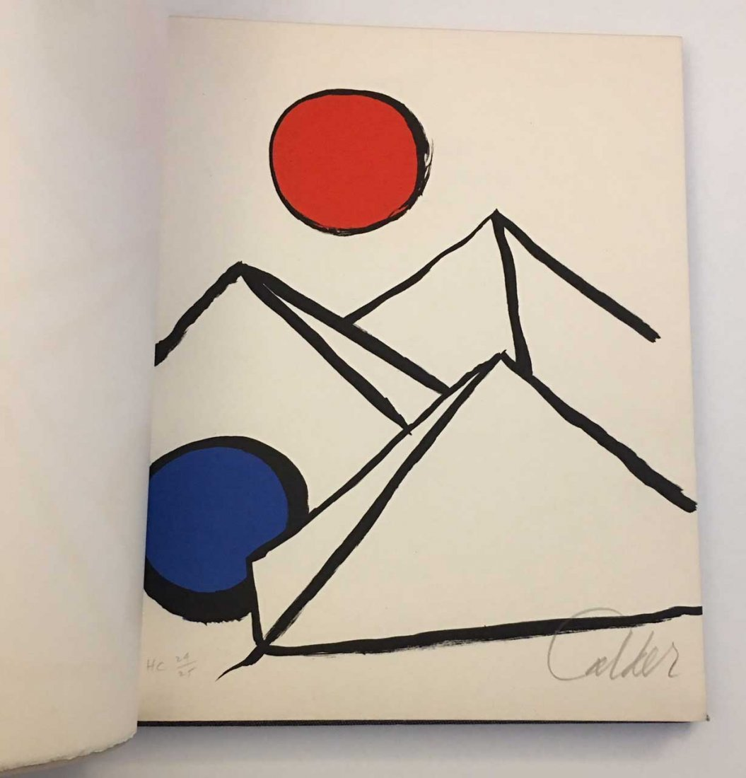 Fits and Starts. With Calder signed lithograph