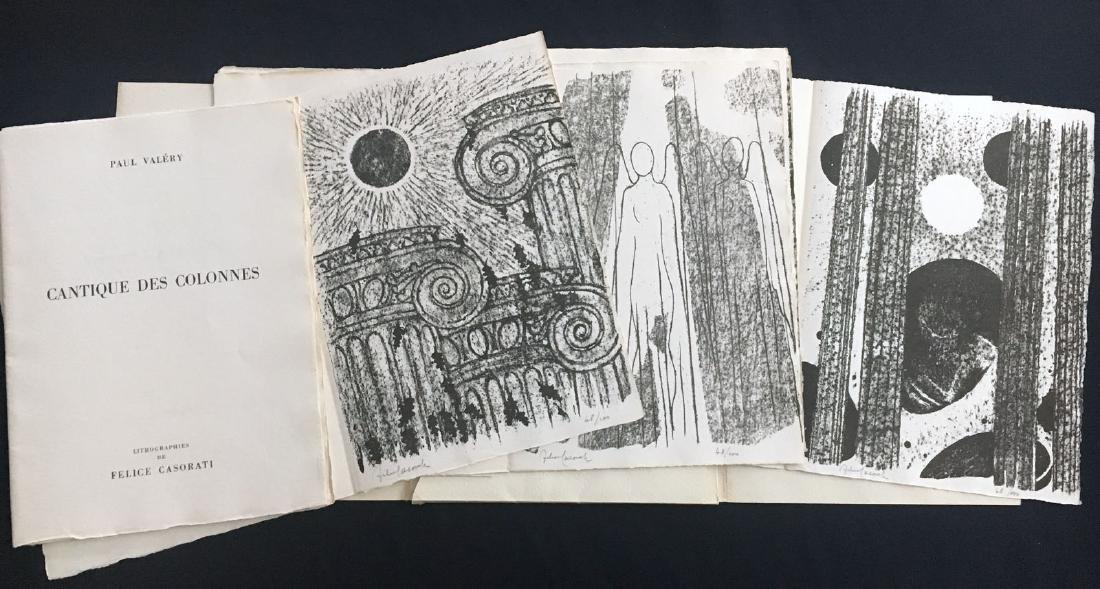 Cantique des colonnes, 1949. With 6 signed lithographs