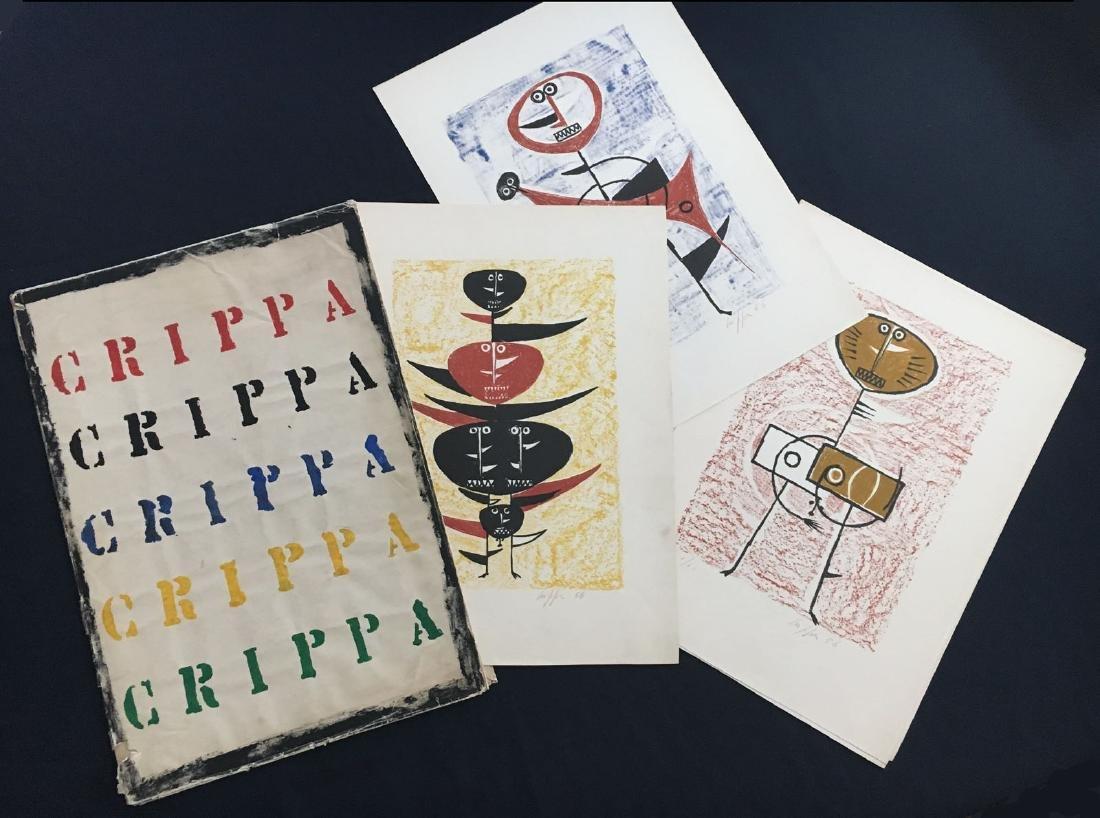 Roberto Crippa – CRIPPA 7  lithographs 1956