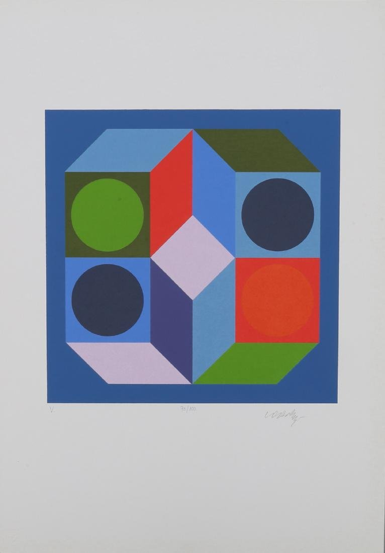 VASARELY - VARIACIOK. With 8 serigraphs signed and