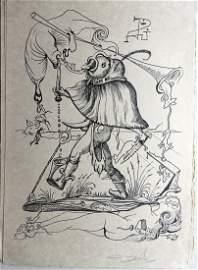 Pantagruel. Dali portfolio with 25 lithographs signed