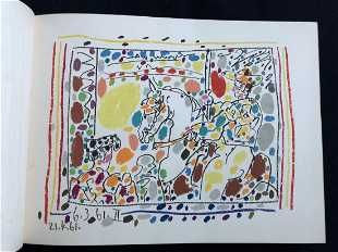 eef1f86771d Picasso A Los Toros. 1961- with 4 original Lithographs