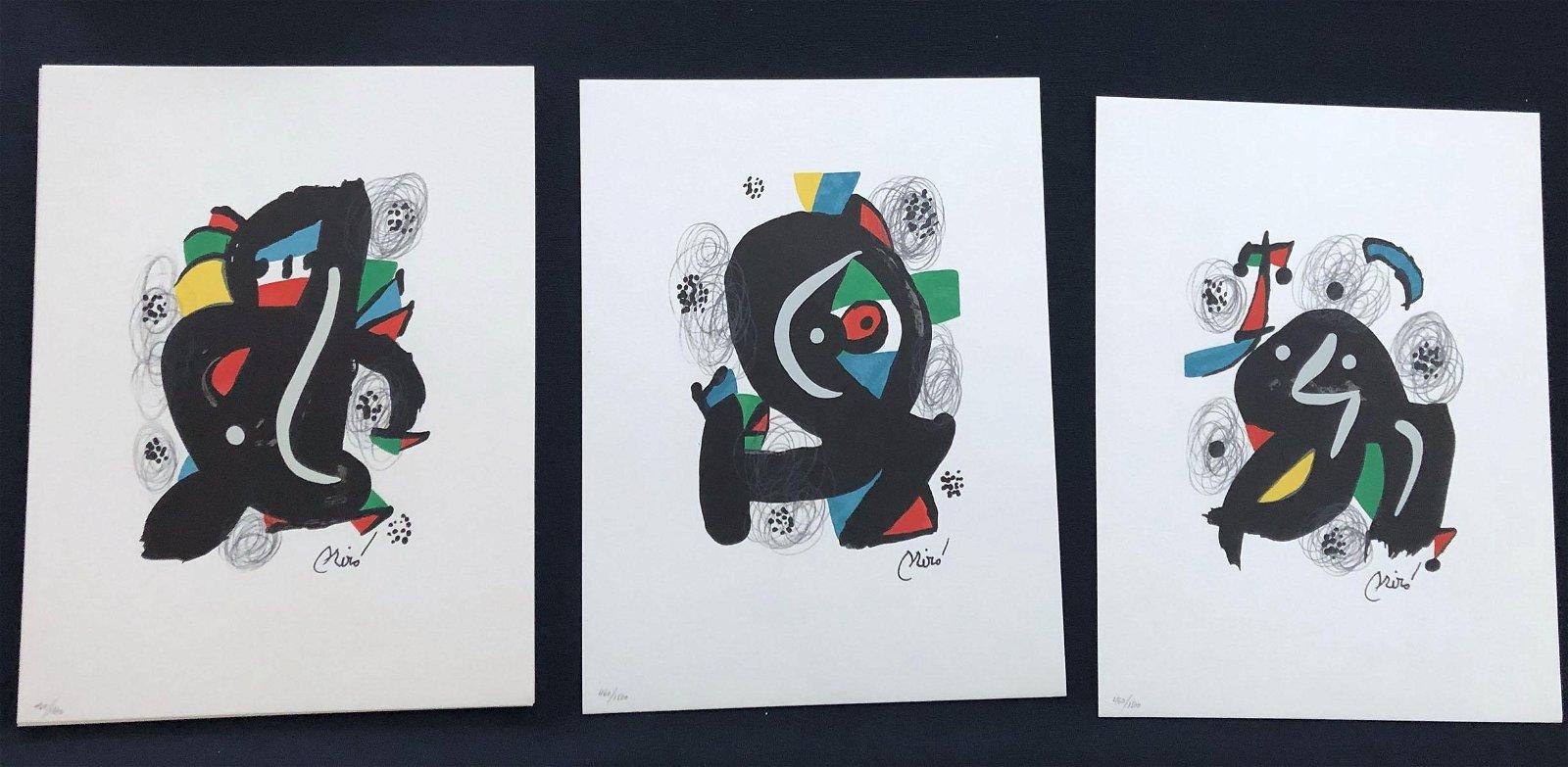 Miro La Melodie Acide portfolio with 14 lithographs