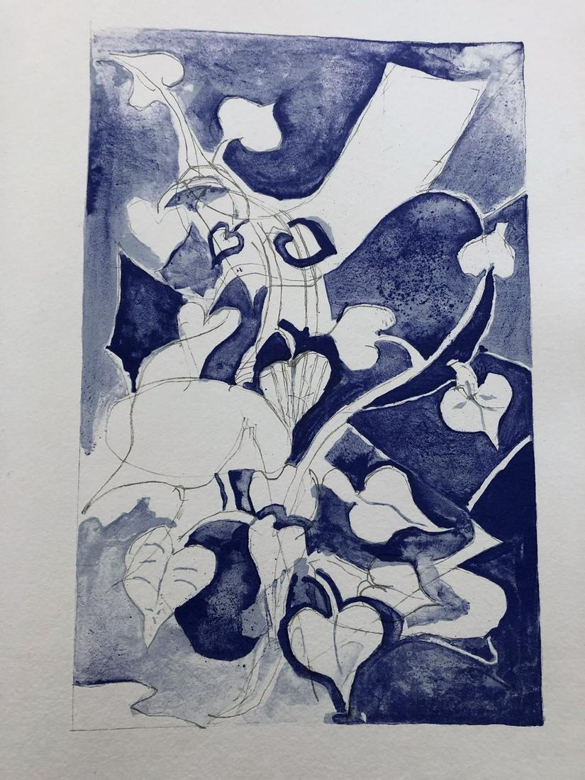 Braque. Les Paroles transparentes. With 14 lithographs
