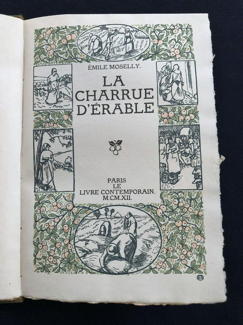 La Charrue d'Erable 1912.  With 12 wood engravings by