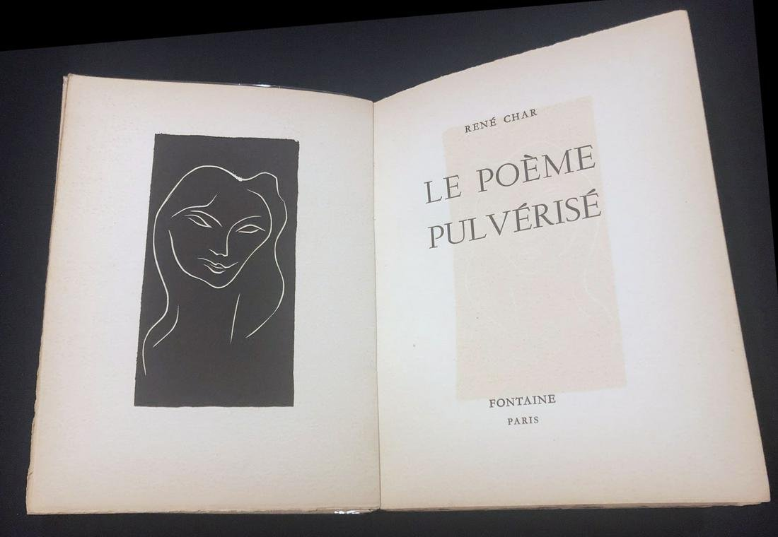 Le poeme pulverise. 1947 - with linogravure by Matisse,