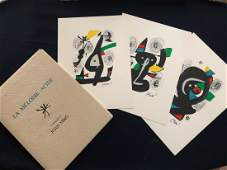 Miro`. La Melodie Acide portfolio with 14 lithographs