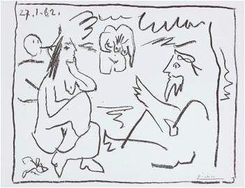 Picasso. Les Dejeuners, DELUXE with a signed lithograph