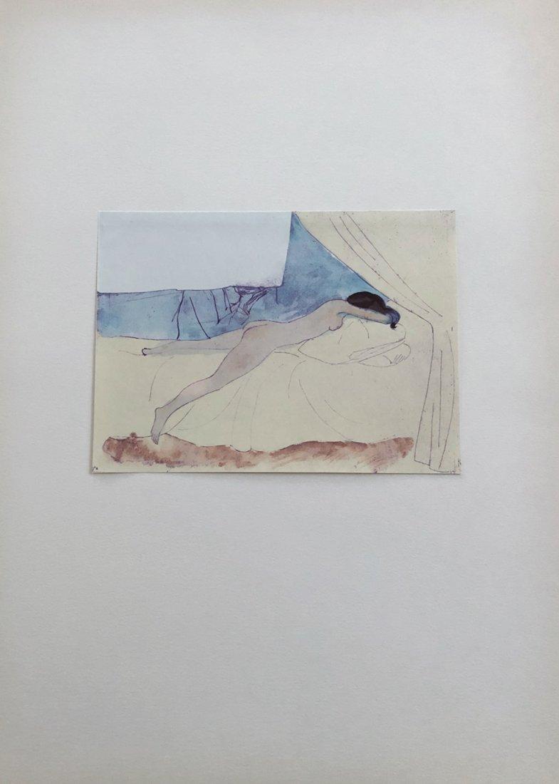 Un eventail. Portfolio with 10 Picasso pochoirs