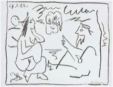 Picasso. Les Dejeuners, 1962. DELUXE with signed litho