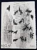 PICASSO. LA TAUROMAQUIA Original Signed lithograph