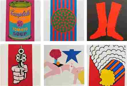 6 silkprints: Dine, Indiana, Warhol, Lichtenstein,