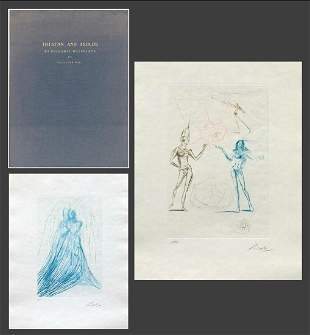 DALI. Tristan and Isolde. 21 SIGNED  Etchings