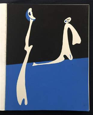 Miro.  Cahiers d' Art 1/4 1934 with 2 original