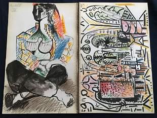 Picasso sketchbook - Carnet de la California 1960