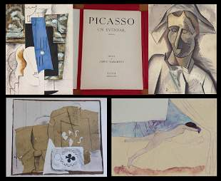 Un eventail 1905 - 1014. 10 POCHOIRS BY PICASSO