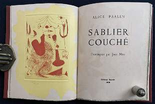 Sablier Couche. 1938 with 1 signed etching by Miro.