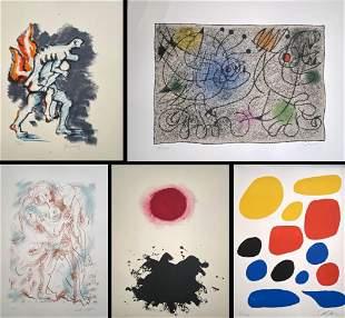 Flight portfolio with 12 original prints by 20th