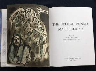The Biblical Message of Marc Chagall. With 1 original