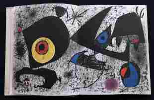 Hommage a Joan Miro with an original lithograph