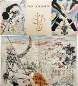 Dali Don Quichotte. With 12 lithographs + Suite in