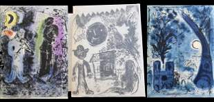Chagall lithographe 1 DeLuxe with 2 signed lithographs