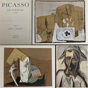 Picasso Un Eventail 1905 - 1014. With 10 pochoirs and a