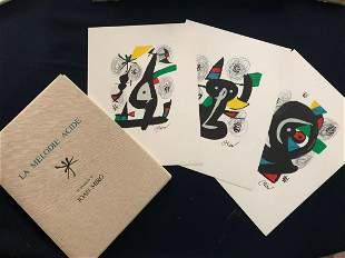 Joan Miro. La Melodie Acide portfolio with 14
