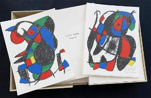 MIRO' LITHOGRAPHE II Deluxe with 2 lithographs Signed +