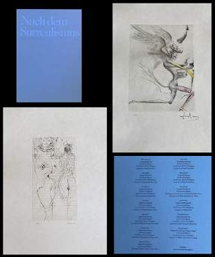 Nach dem Surrealismus. Signed prints by Dali, Bellmen,