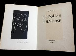 Le poeme pulverise. 1947, with signed linogravure