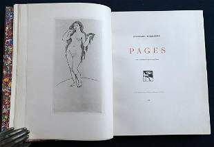RENOIR. Pages. Mallarme, 1891. With Venus etching in 2
