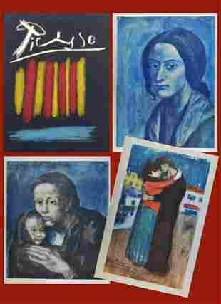 Picasso. Les Bleus de Barcelone. Portfolio with 11
