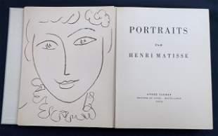 Portraits par Henri Matisse. One original lithographs +