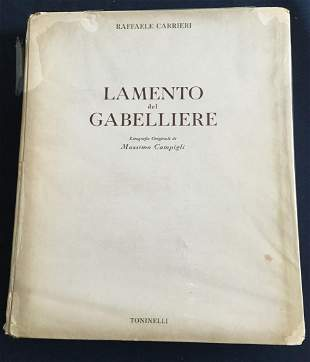 Il Lamento del Gabelliere, 1945, 10 Lithographs by