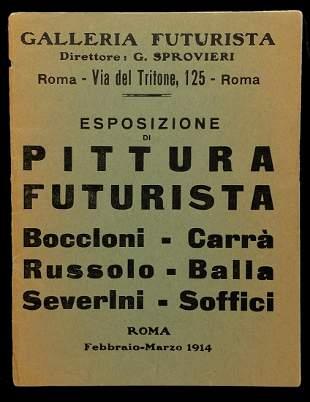 Esposizione di Pittura Futurista 1914.