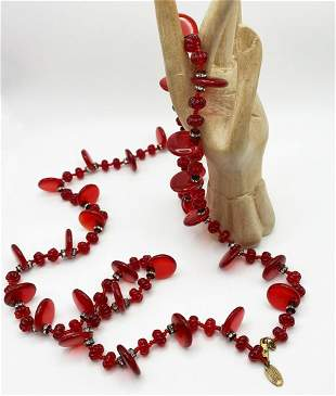Miriam Haskell Necklace. Signed