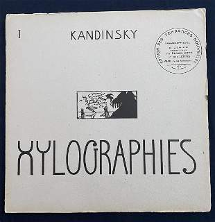 Kandinsky Xylographies. 1909 With 8 photogravoures