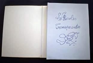 BRAQUE. Les Paroles transparentes. lithographs by