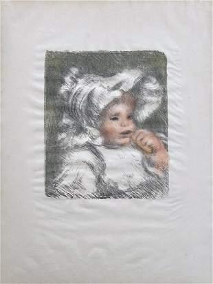 Renoir L'enfant au biscuit. Lithograph 1899
