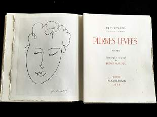 Pierres Levees. 1948, with signed lithograph by Matisse