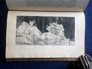 Manet by Zola. 1867. with Manet etching Olympia