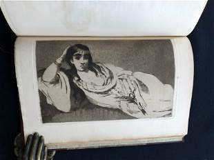 Manet by Bazire. 1884. with two etchings