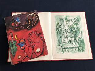 Life and work. 1961 Chagall Deluxe colored etching