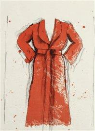 Jim Dine. BATHROBE Lithograph 1970/76