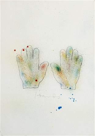 Jim Dine. HANDS Lithograph 1970/76
