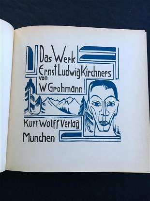 Das Werk, Ernst Ludwig Kirchners. 1926, with 6 woodcuts